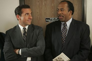 "Steve Carell i Leslie David Baker (kadr z ""The Office""), fot. NBCUniversal"
