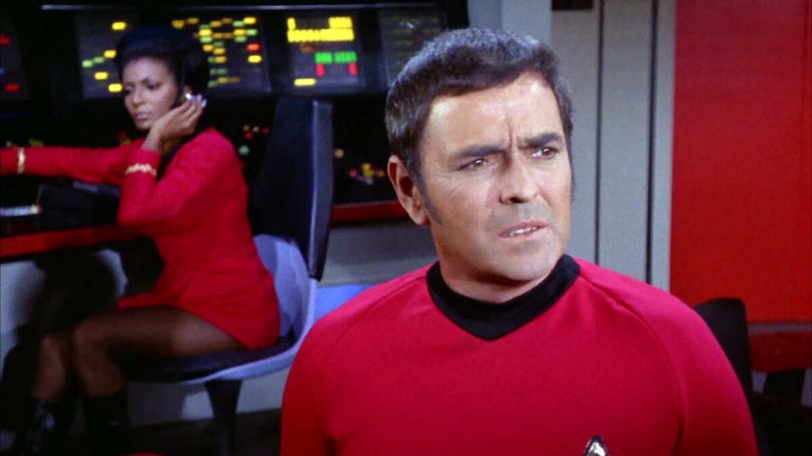 Scotty, James Doohan, Uhura, Nichelle Nichols, Star Trek, NBC