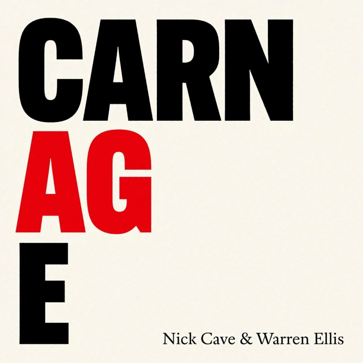 Nick Cave & Warren Ellis, Carnage, Goliath Records, AWAL
